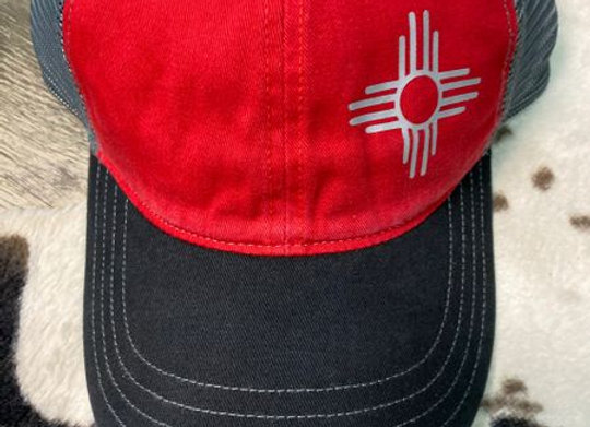Zia Symbol Embroidered Hats