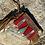Thumbnail: Aztec Leather Wristlet Crossbody with Fringe
