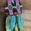 Thumbnail: Bead Earrings with Turquoise Fringe