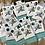 Thumbnail: Cowhide Stud Post Earrings Black and White