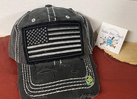 American Flag Camo & Black Vintage Baseball Trucker Hats