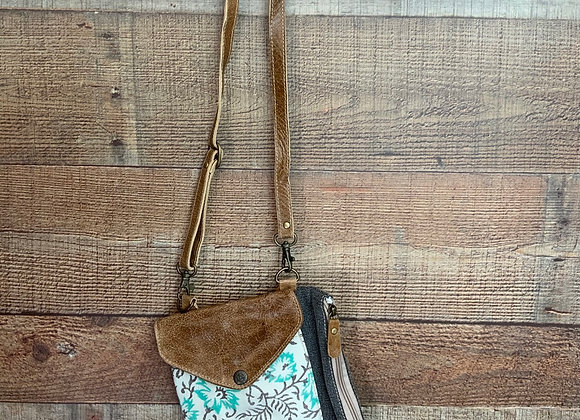 Floral Upcycled Crossbody Bag