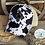 Thumbnail: Cow Print Criss Cross Ponytail Messy Bun Hats with Zia Cowhide Cut Patch