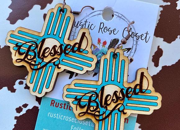 Blessed Wood Earrings