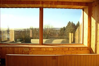 Ausblick Panorama Sauna