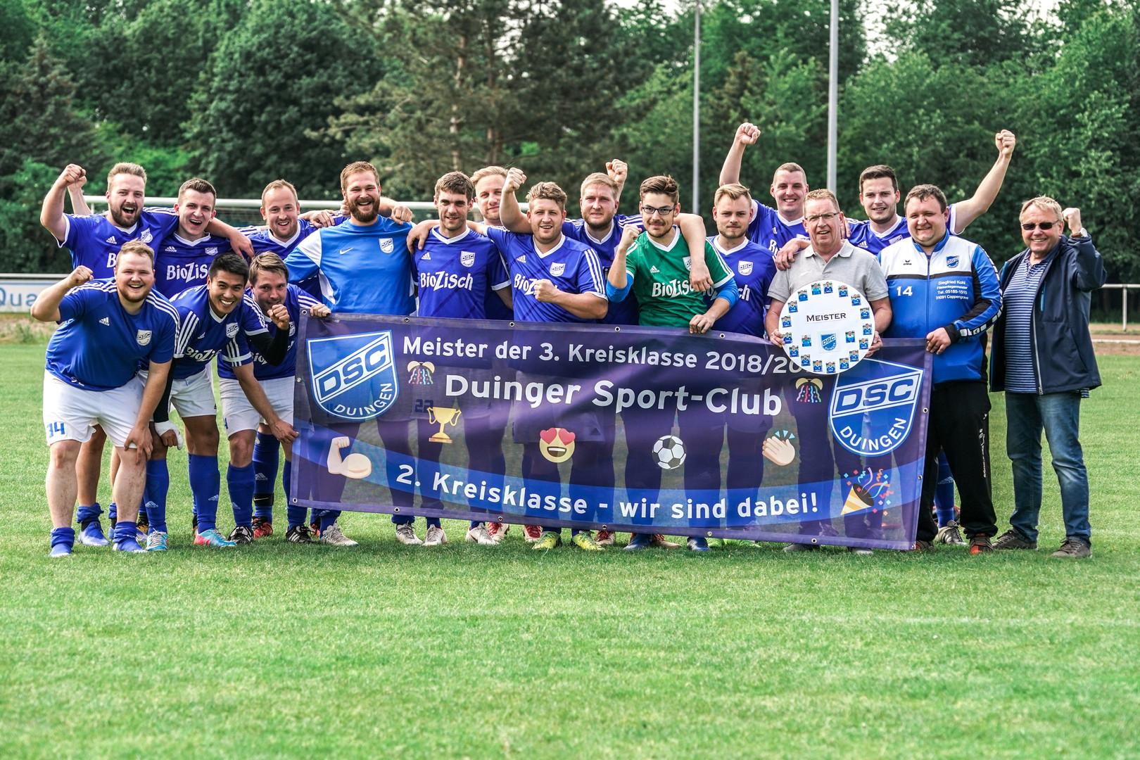 Meister der 3. Kreisklasse 2018/2019: Duinger Sport-Club