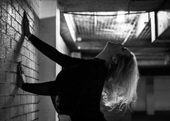 black and white woman backlit striking portrait