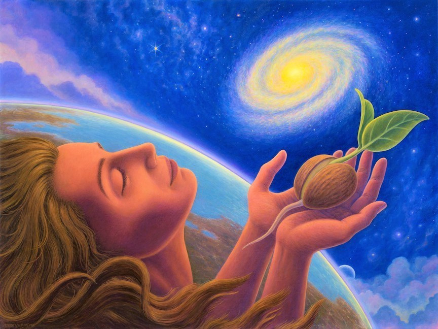 Mark Henson : Seed Sharer : Yellow Magnetic Seed