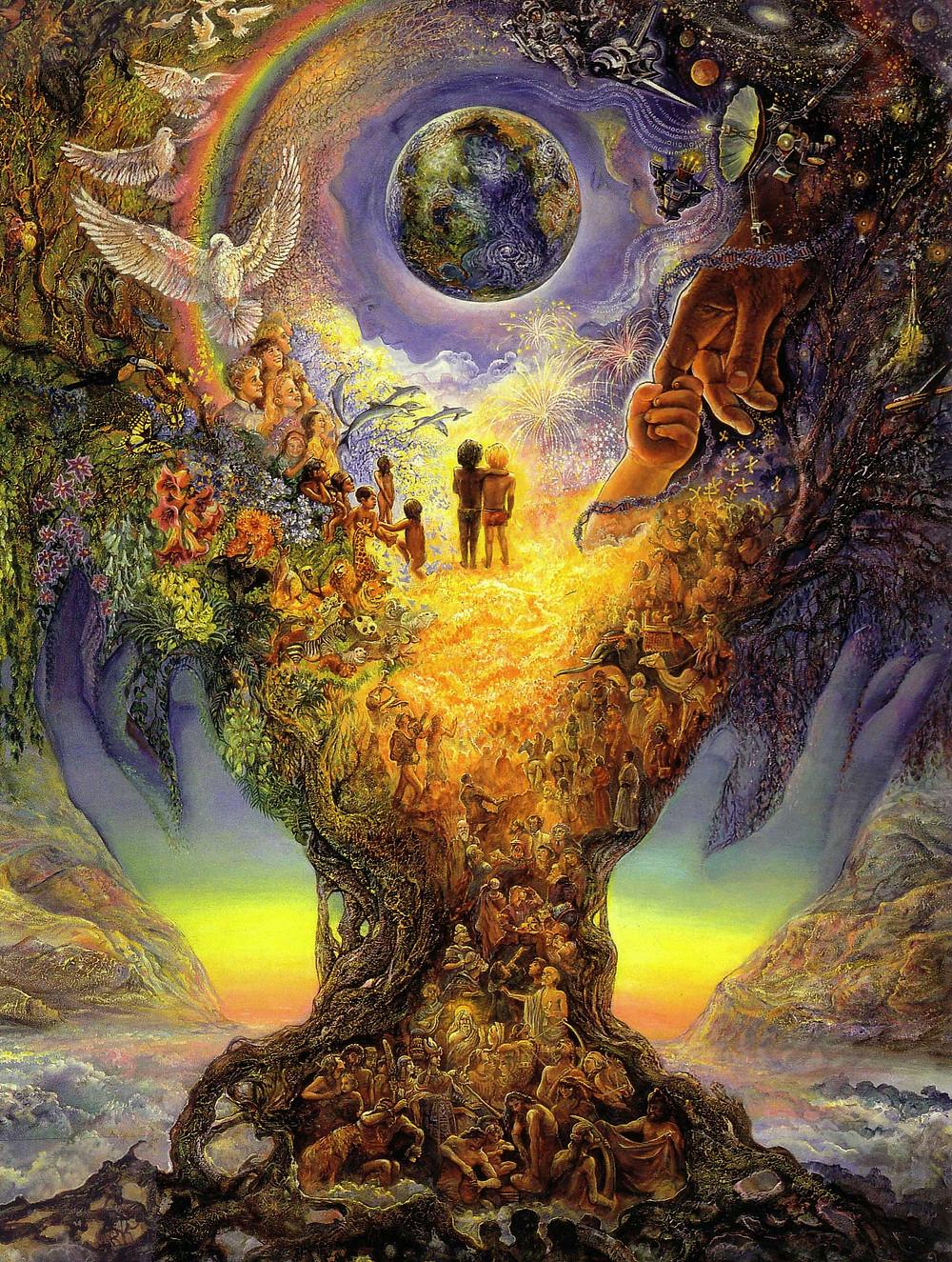 Josephine Wall - TREE OF PEACE