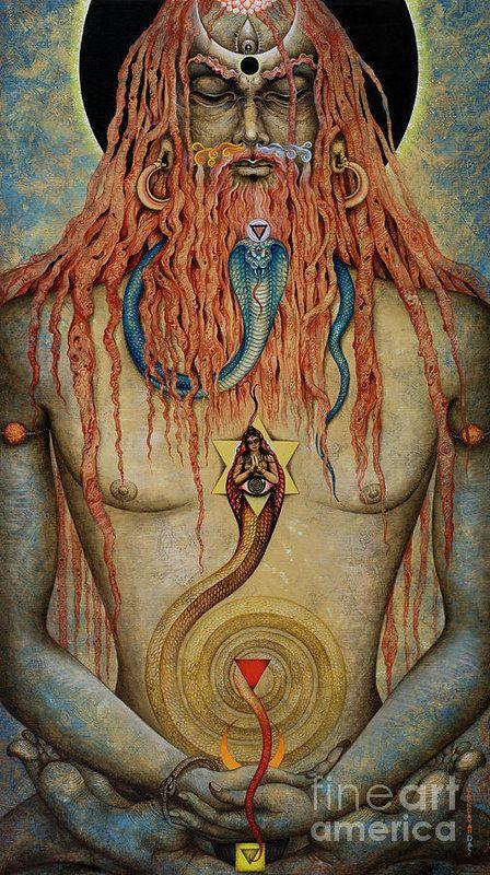 Vrindavan Das : Yogi : Red Planetary Serpent