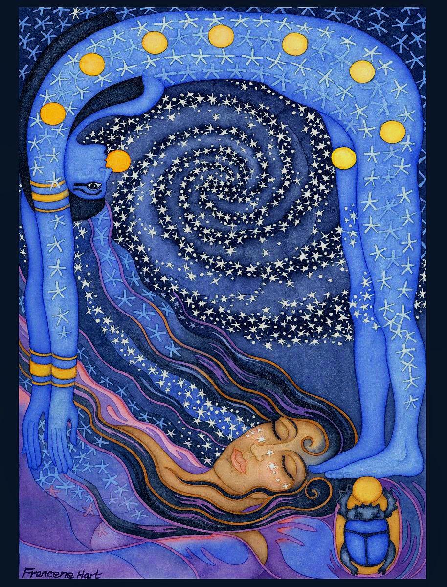 Egyptian Sky Goddess 'Nut' by Frances Hart