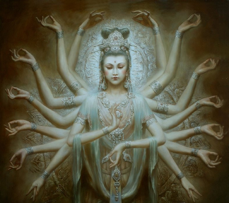Art by Zen Hao - QUAN-YIN. The Goddess of Compassion and Mercy Quan Yin - Kuan Yin - is an incarnation of Mary, Sophia, The Divine Mother