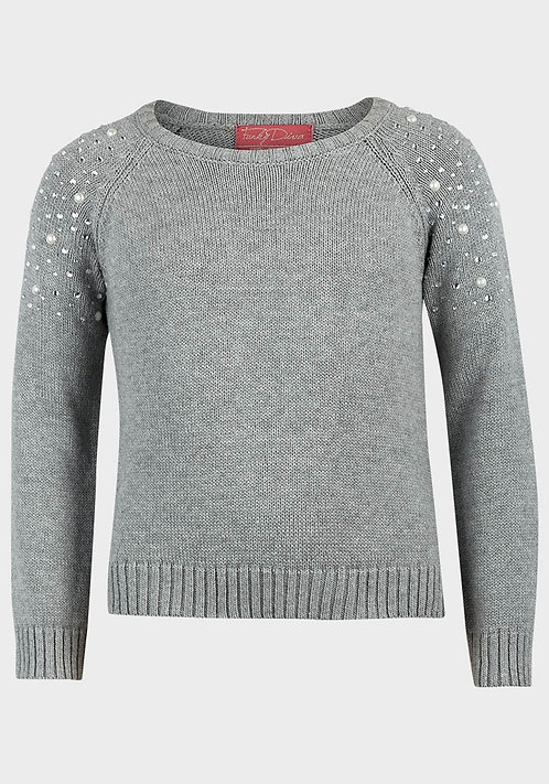 Funky Diva Girls Cotton Knit Jumper Grey