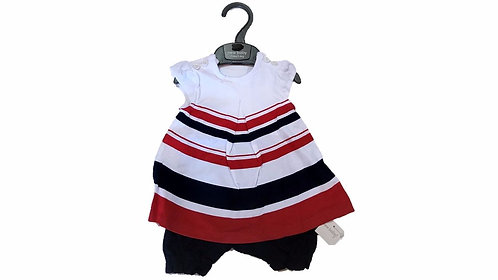 Baby Girls Stripe Dress Romper