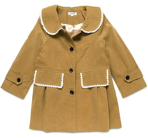 Girls Corduroy Tan Traditional Light Weight Jacket
