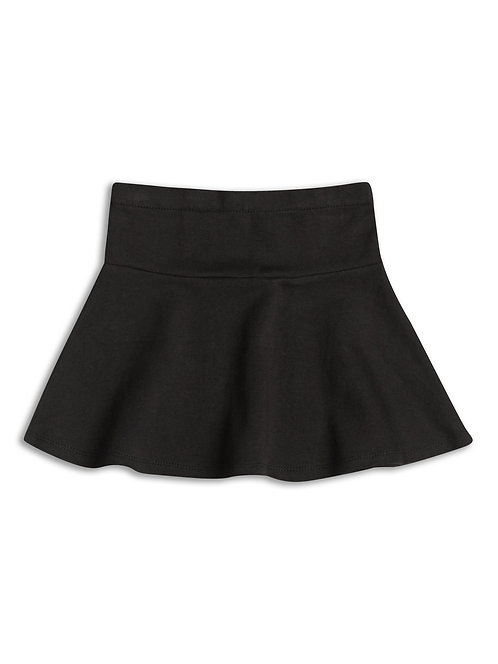 Girls black swing skirt