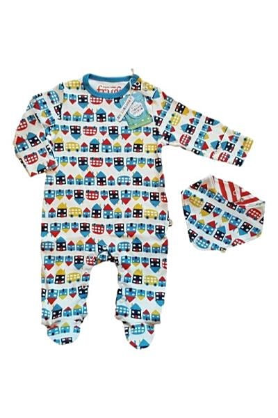 Frugi Organic Cotton Babygrow and Bib Set