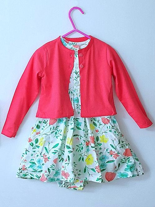 2 Piece Floral Dress Set