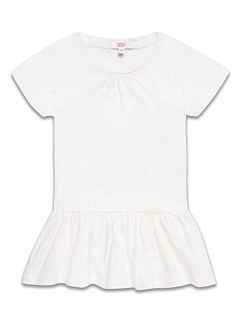 Girls Cream short sleeve dress
