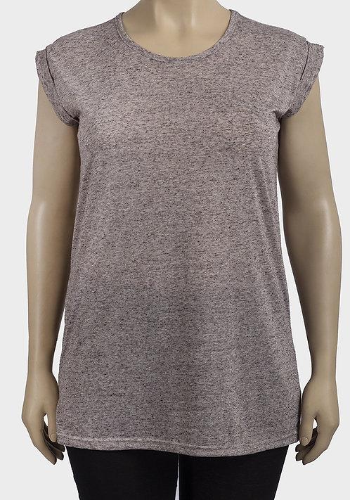 Linen Blend Speckle T-Shirt