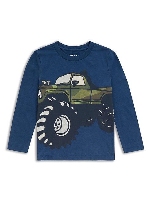 Boys monster truck long sleeve top