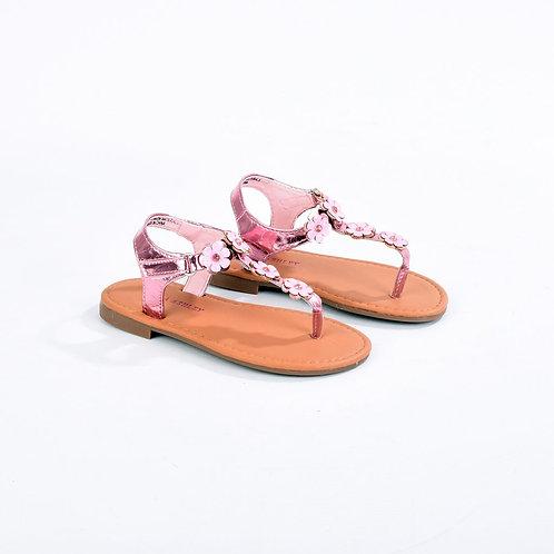 Laura Ashley Thong Glitter Flower Sandal