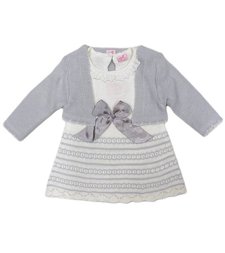 Rock A Bye Baby Knitted Dress And Cardigan Set