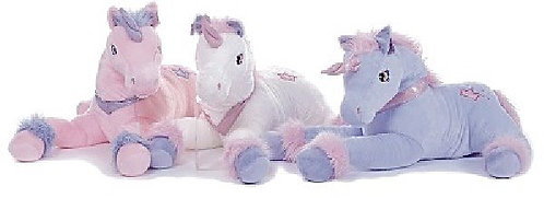 Cute girlie paws plush toy unicorn