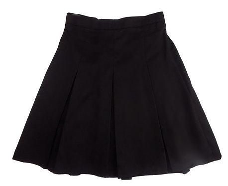 Girls Black Pleated School Skirt
