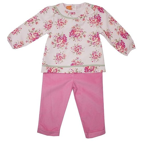 Pusblu Pink Floral Outfit 2pc Set