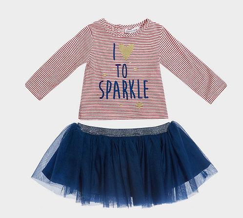Babaluno By Minoti Baby Girls Top Ballerina Skirt Set