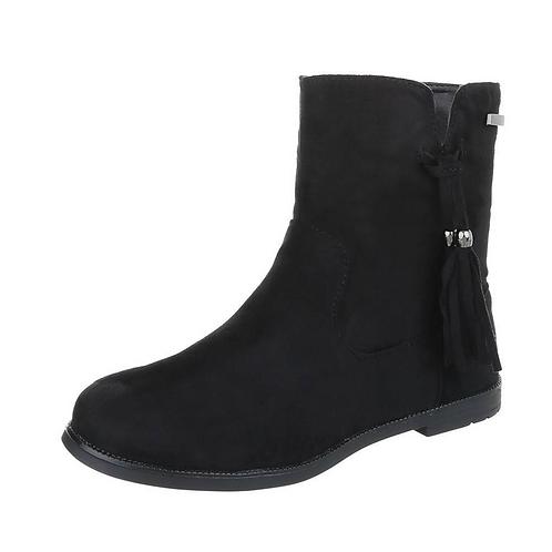 Girls Black Tassle Boots