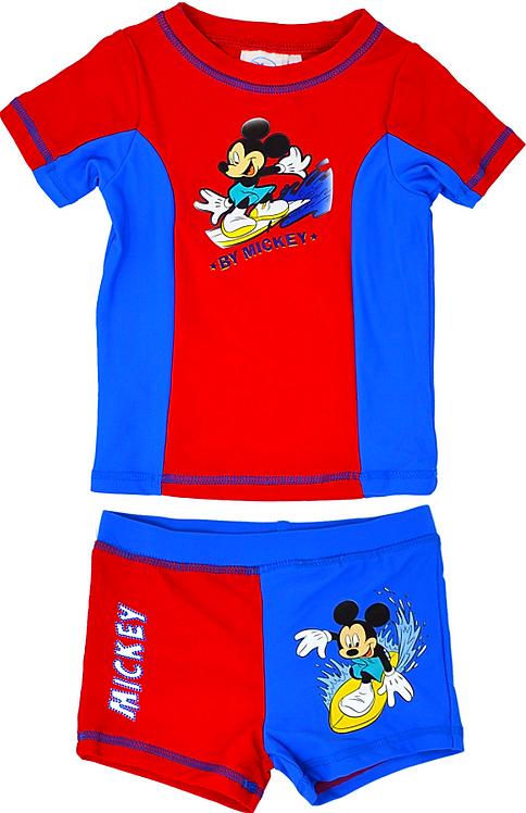 Disney Mickey Mouse Rash Swim Set Red