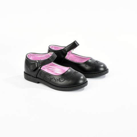 Girls Black Dolly School Shoes