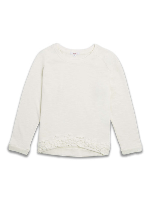 Girls lace trim Sweat shirt