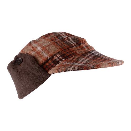 Boys checked tweed cap