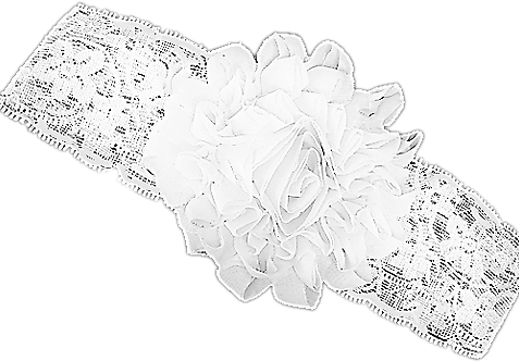 White Lace Large flower headband