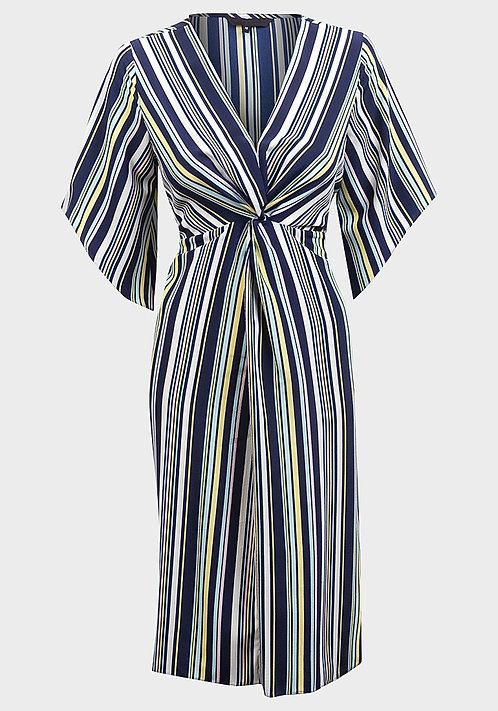 Angel Stripe Midi Dress