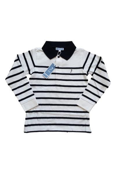 Boys Jacadi Designer Long Sleeve Polo Shirt