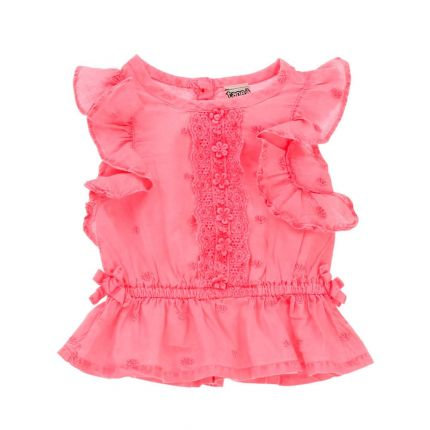 Baby Girls Pink Frill Blouse
