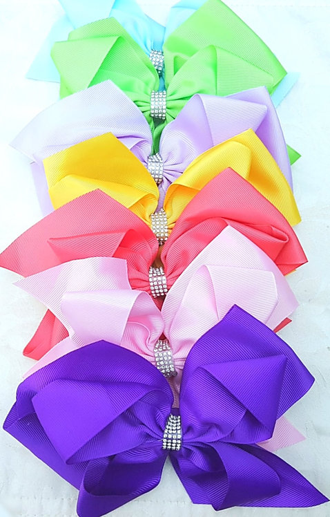 8 Inch Extra Large Diamante Double Hair Bow