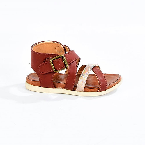 Girls Fullstop Brown Sandals