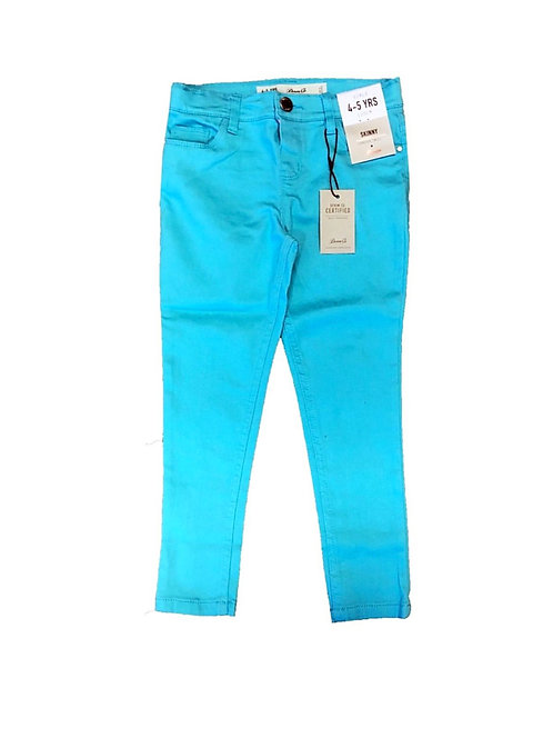 Girls High waisted Blue Skinny Jeans