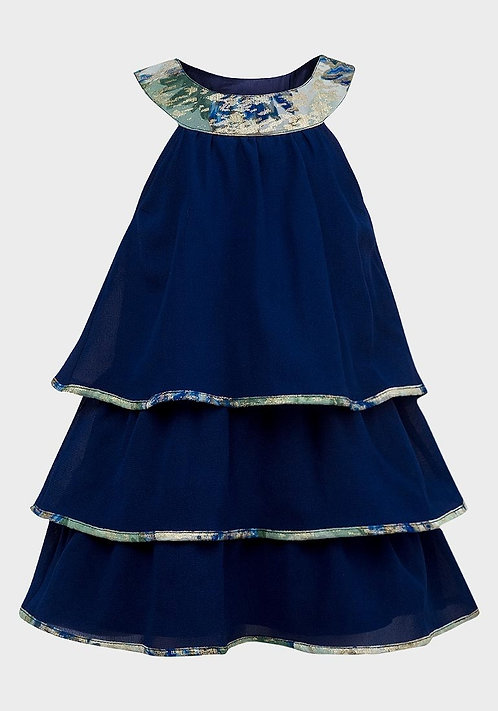 Chloe Louise Girls Tiered Party Dress