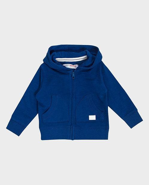 Minoti Boys Zip Through Hoodie Blue