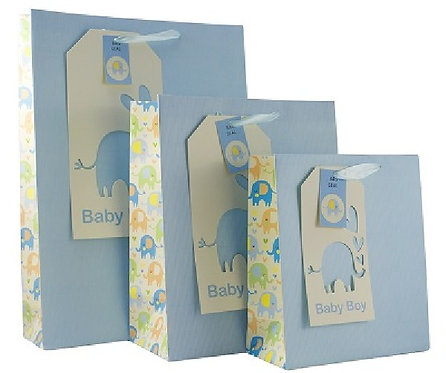 Baby boy blue medium Gift bag.