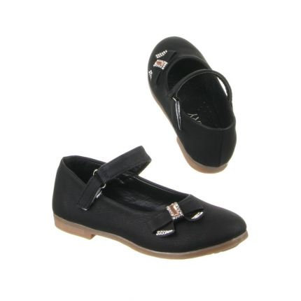 Infant Black Jewel Bow Mary Janes