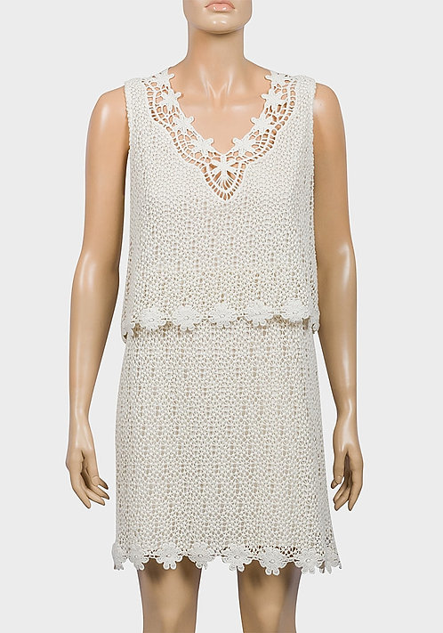 Knit Lace Sleeveless Dress