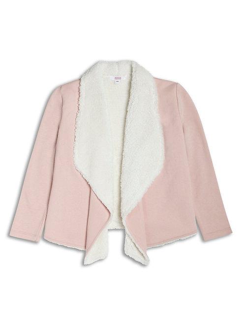 Girls pink waterfall cardigan