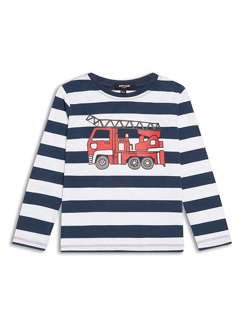 Boys fire engine long sleeve T- Shirt